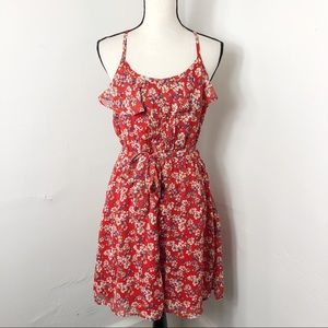 Elle Floral Spaghetti Strap Belted Dress 8